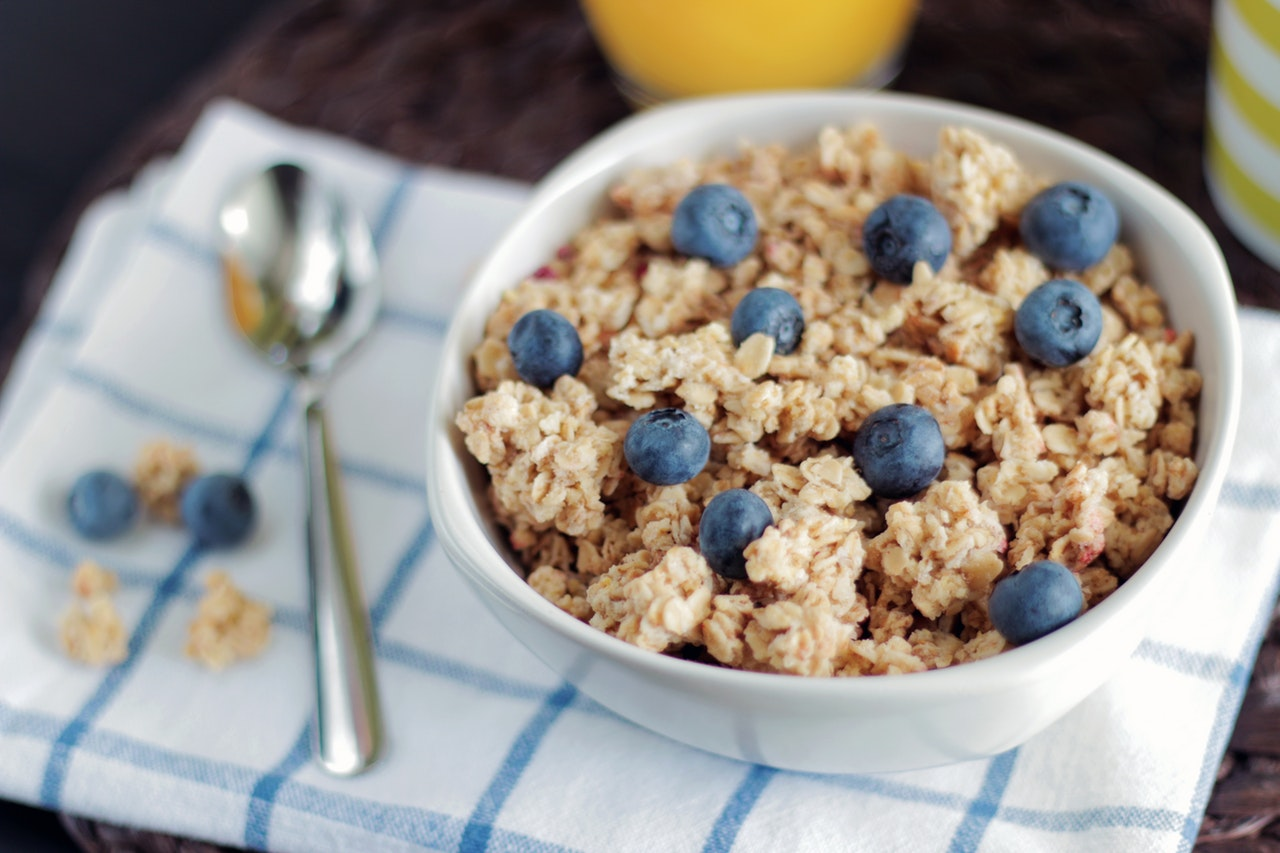 cereals on a plate