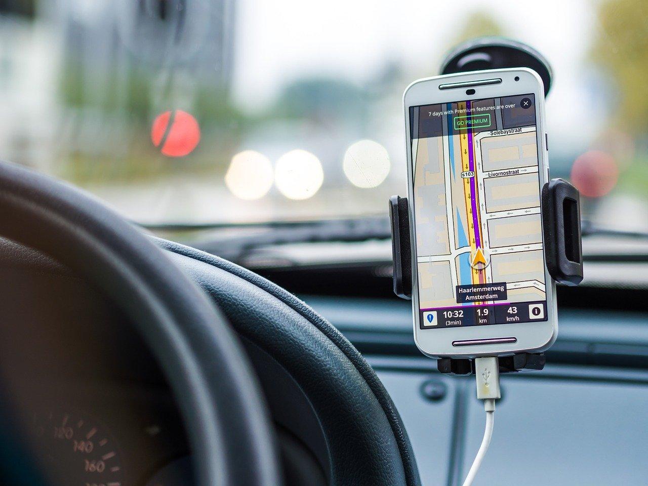a car navigation app