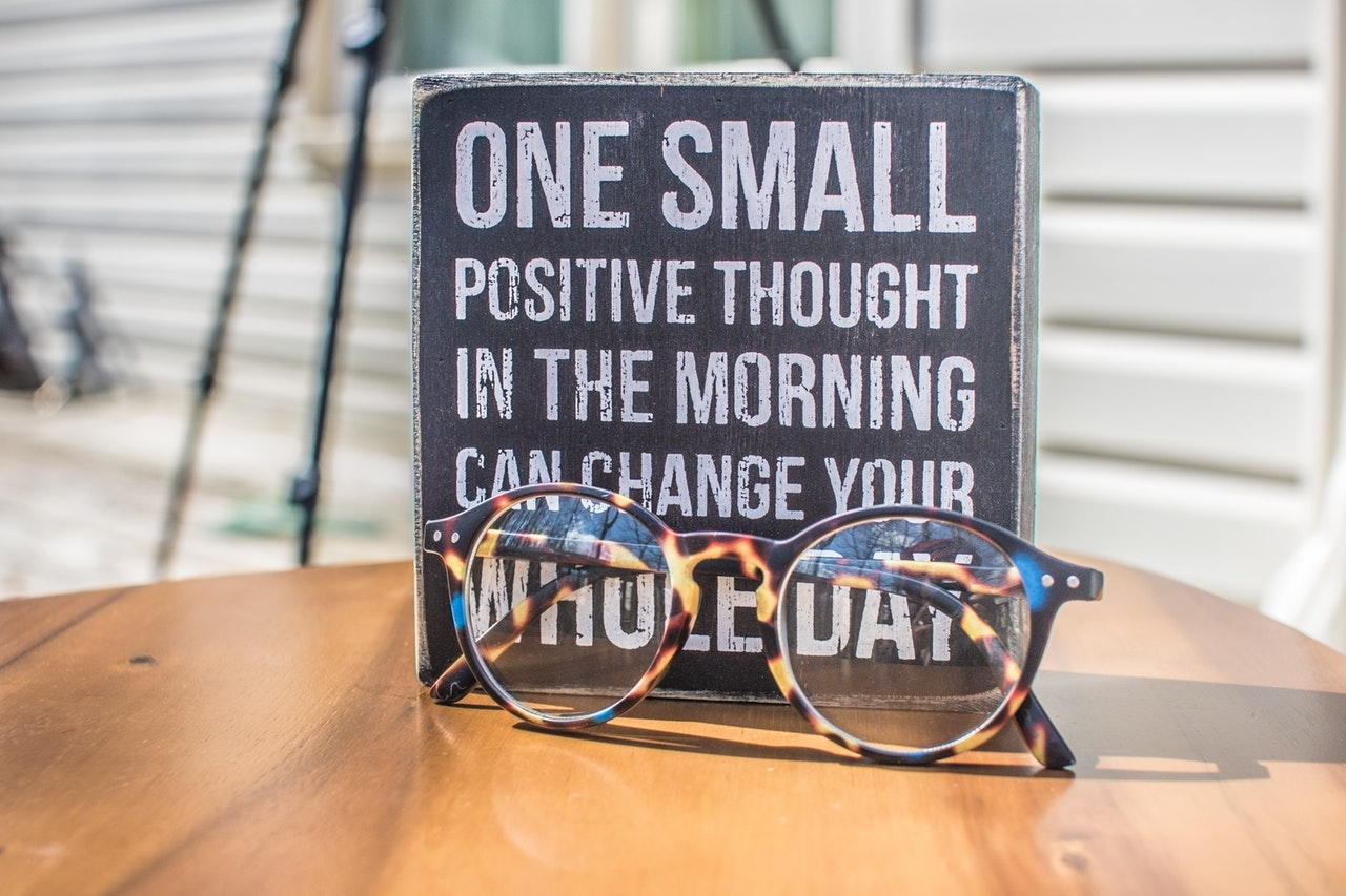 a quote and spectacles